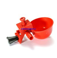 chicken feed - Bird Coop Automatic Feed Poultry Water Drinking Cups Chicken Fowl Drinker Water Bowl Red Can Adjust the Amount of Water