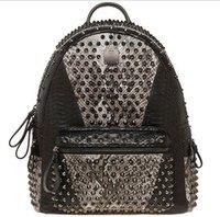Cheap Hot New MCM Backpack Bags Stylish Designer Rivet Backpacks fashion handbag W176