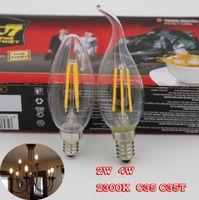 crystal candelabra - New k led light CCT clear crystal candelabra e12 e14 led filament candle w w dimmable