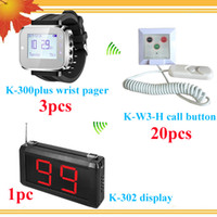 Wholesale Hospital wireless nurse call system watch pager with display watches buttons DHL free