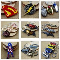 Wholesale 100 Styles Newest Superhero Keychains Captain America Key Chains Zinc Alloy Flashman Christmas Gifts Key Chain DHL R820
