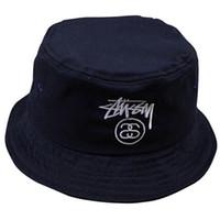 Wholesale Summer Fashion Brand Woolen Bucket Hat Sun Striped HipHop Fisherman Cap Camouflage