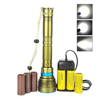 led underwater fishing light - SKYRAY M Underwater Lm x XM L2 LED Diving Flashlight L2 LED Torch Lights Scuba Diver Waterproof Battery Charger