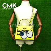 sequence - CMK KB137 New fashion Candy Color Girls kids Small Sequence Eye Handbags Teens Crocdile Shoulder Bag Kids Children Bags