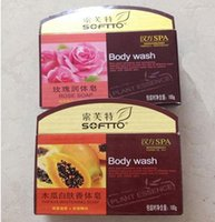 Wholesale SOFTTO PAPAYA SOAP Skin Whitening Bleach Body Wash Bar attractive in price and quality
