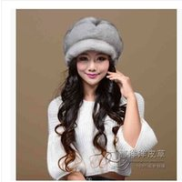 Wholesale Ms imported mink fur hats Female big six disc mink fur hats Leather whole fur cap In the winter