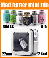 hatter - Hottest Colorful Mini Mad Hatter Rda Atomizer Rebuildable electronic cigarette mini atomizers mad hatter ATB364