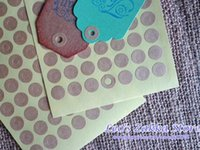 Wholesale Lovely Kraft Ring Stickers for Gift Tag Reinforcement Kraft Hole Seal Stickers