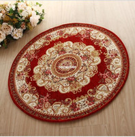 Cheap 90*90cm round pastoral rose Chenille jacquard carpet &rug for living room Brand luxury royal European carpet of living bed room