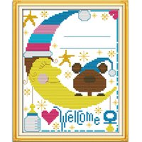 baby art kit - NEW DIY Handmade Needle Bear Baby Paint Counte Cross Stitch14CT Cross Stitch Sets DIY Cross Stitch Kits of Embroidery Home Decor Needlework