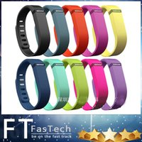 Wholesale Fitbit Flex Wristband Large Small Band With Metal Clasps Replacement Rubber TPU Wrist Straps For Activity Bracelets Smart Wristbands