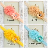 Wholesale Children Girl s Lace flower Headbands Baby quot Headbands kid s hair Accessories