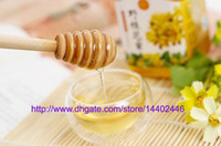 Wholesale 200pcs New Arrive MINI cm long Wooden Honey Dippers Wedding Favors Honey Dipper spoon Gift