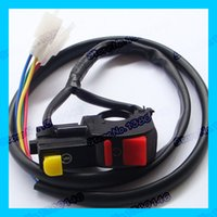 electric quad bike - Off road motorcycle electric starter Handlebar start stop ATV Quad kill switch button wire connection dirt pit motor bike order lt no tr