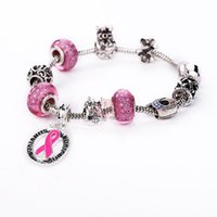 Cheap 2016 New Arrival Breast Cancer Awareness Bracelets DIY Interchangeable Pink Ribbon Breast Cancer Bracelet Jewelry free ship