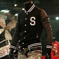 baseball jackets - 2014 spring male jacket slim fashion jacket personality letter baseball uniform outerwear
