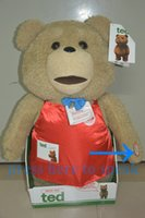 ted - 1 lovely TED CM movie size talking teddy bear plush toy in working apron for birthday gift or fans collection