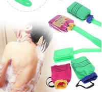 bath and body brushes - Korea And Japanese Bath Shower Massager Scrubber Spa Body Back Wash Brush With Handle