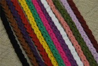 Wholesale Top Multi mm Flat Faux Suede Leather Cords Braided DIY Bracelet Rope String meters DIY Cords Accessories ds234 b
