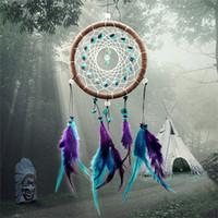 Wholesale Hot Salees Handmade Pendants Dream Catcher Wall Car Hanging Decoration Feathers Novelty Dia CM Length CM JI8