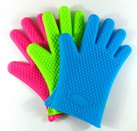 garden pot holder - g Heat Resistant Silicone Glove Cooking Baking BBQ Oven Pot Holder Mitt Kitchen SG01