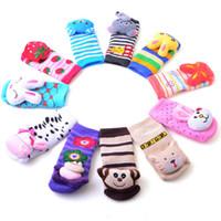 Wholesale 2015 Nonskid baby girls socks Nonslip Toddler Footgear Baby thick socks baby booties sox HW