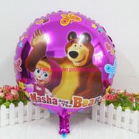 bear birthday supplies - cm masha bear foil balloons martha and bear balloon for baby s toys helium balloon birthday supplies