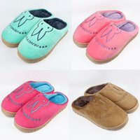 Wholesale Newest Fashion Autumn and Winter Slippers Lovers Rabbit Head Cotton Slippers Warm Men Women Winter Cotton padded At Home Slippers