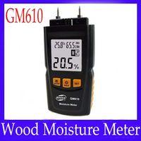 Wholesale Digital LCD Display Wood Moisture Meter Gauge Humidity Tester Timber Damp Detector Hygrometer GM610
