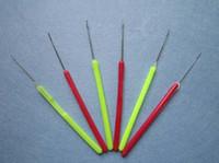 Wholesale 2000pcs Plastic Handle Pulling Needle Micro Rings Loop Needle Hair Extensions Tools