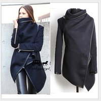 Wholesale new style winter woolen Women overcoat fashion trench woolen coat