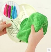 Wholesale Kitchen cloth can be linked to the bamboo fiber and the fabric is not to wash the dishes with the two sides Cleaning Cloths wash oil A330