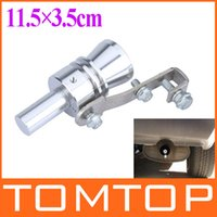 Wholesale Universal Turbo Sound Whistle Exhaust Pipe Tailpipe Fake BOV Blow off Valve Simulator Aluminum Size XL x3 cm