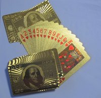 Wholesale Pieces Dollar Style Retail Support Gold Foil Playing Cards No Pollutions Material Drop Shipping Support
