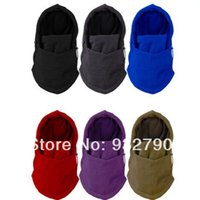 balaclava facemask - Comfortable Windproof Skiing Riding Facemask Balaclava Hood Fleece Ski Bike Scarf Mask Hat Full Face Neck Coverage Outdoor