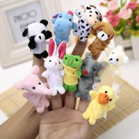 Cheap Free Shipping Baby Plush Toy Finger Puppets Tell Story Props(10 animal group)Animal Doll  Kids Toys  Children Gift