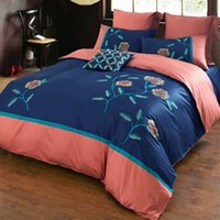 american express sales - Factory Direct Sales Embroidery Bedding Sets American Wedding Bedding Suite High Grade Home Textiles Queen King Size Express Delivery