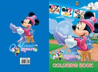 Wholesale 2015 Kids Coloring Book Children Drawing Sketch Painting Mickey Mouse Graffiti Large size CM inch Random Designs