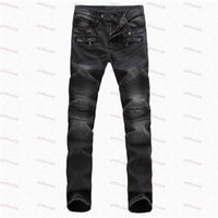 acid wash jeans - European And American Style Men s Straight Fit Classic Denim Jeans Washed Acid Slim Skinny Jeans Paris Runway Stretch Biker Jeans
