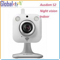 Wholesale AUSDOM S2 Indoor Mini Wireless IP Camera WiFi P2P HD P Cloud Camera Night Vision Pan Tilt Two Way Audio Security Camera