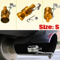 Wholesale 2015 New size S Gold Exhaust Fake Turbo Whistle Pipe Sound Muffler Blow Off Valve Bov M L XL also available order lt no track