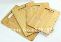 Cheap Bamboo Chopping Blocks Fruit Plate Potholder Reversible Cutting Boards Kitchen Gadgets