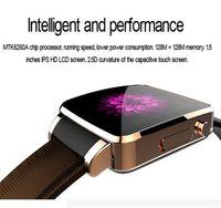Support de cuir de luxe Smart Watch X6 Support Carte SIM TF Bluetooth WAP GPRS SMS MP3 MP4 USB pour iPhone et Android