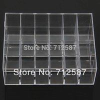 venda por atacado acrylic makeup case-Shipping Clear Acrílico 24 Lipstick Holder Display Stand Cosmetic Organizador Makeup Case # 9014