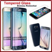 protective film - 0 mm for iphone Premium Tempered Glass Screen Protector Protective Film For iPhone S C Samsung Galaxy S6 Edge S6 S5 S4 S3 HTC M9 M8