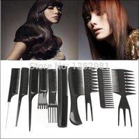 ao hair - 10pcs Comb Make Up Comb Professional Hair Combs Anti static Hairbrush AO P