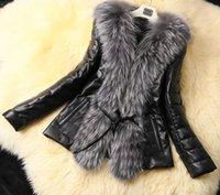 womens leather jackets - 2014 womens leather jacket plush grass Slim long sleeved fur coat high fashion wool coat