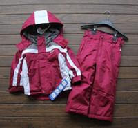 baby ski pants - Kids Children Warm Waterproof Ski Set Suit Outdoor Wind Jacket Snowboard Skiing Snow Pants Pantalones For Boys Girls Baby Enfant