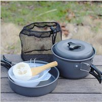 barbecue cookware - Barbecue cooker nonstick cookware outdoor camping portable cooker DS real aluminum outdoor picnic tableware Korean barbecue picnic porta