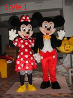 Wholesale Minnie mickey mascot role playing apparel Adult size walking mascot play a character